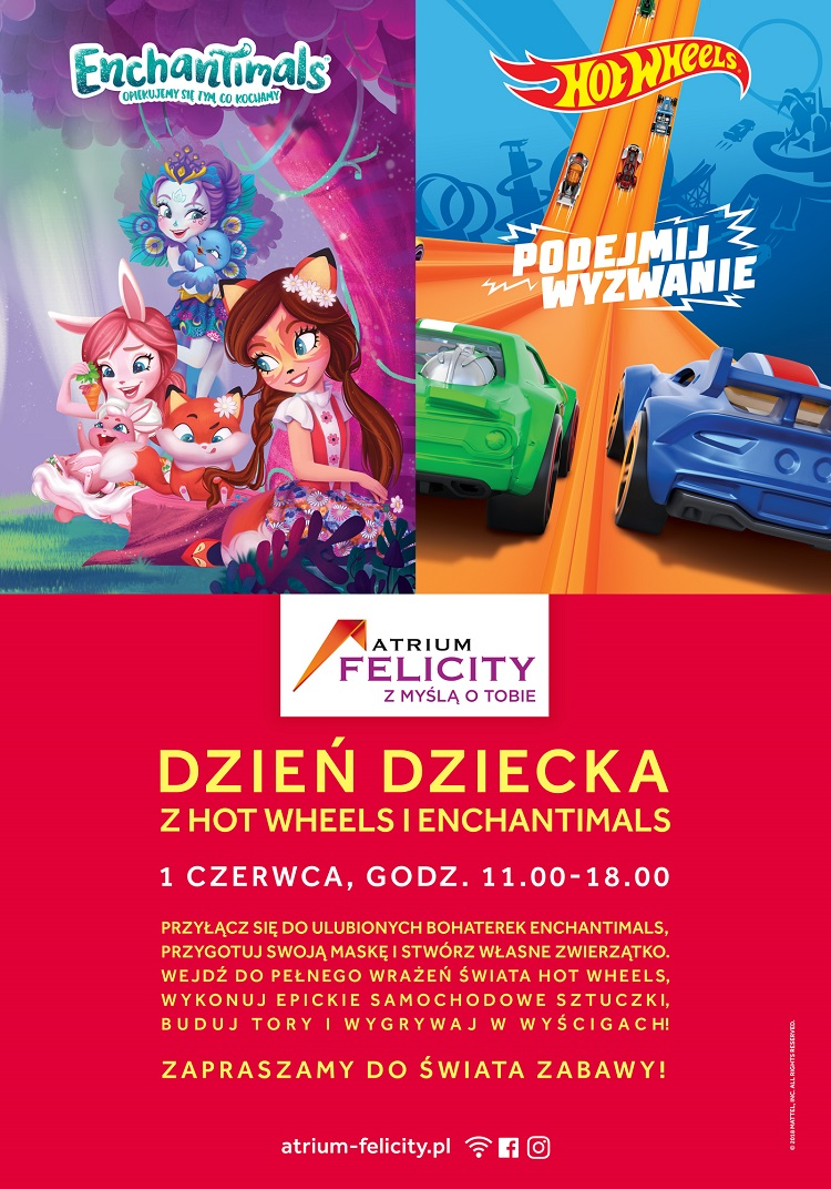 Dzień Dziecka z Hot Wheels i Enchantimals w Atrium Felicity